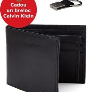 Portofel Calvin Klein + Breloc CADOU - Bookfold & Key Fob Set - din piele