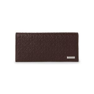 portofel-barbati-femei-edshop-Portofel-Calvin-Klein-Brown-Embossed-Logo-Secretary-Wallet
