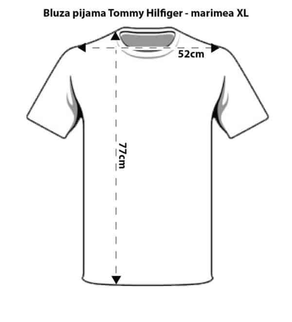 schita-tricou-marimi-pijama-tommy-hilfiger-marimea-XL