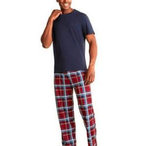 set-cadou-pijama-barbati-tommy-hilfiger-culoare-bordeaux-edshop-romania