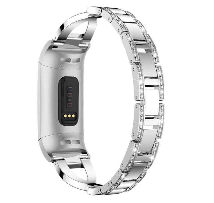 Curea bratara metalica Edman luxury pentru Fitbit Charge 3