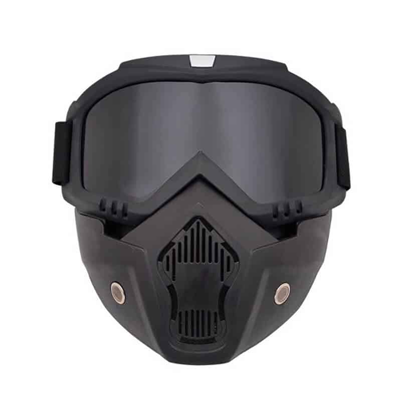 masca-protectie-fata-Edman-ND03-din-plastic-dur-cu-ochelari-ski-pentru sport-lentila-neagra