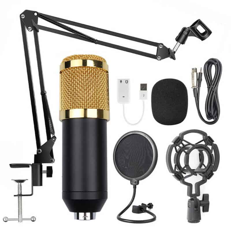 Microfon-Profesional-de-Studio-Condenser-Edman-BM800-cu-stand-inclus-pentru-Inregistrare-vocala-Streaming-Gaming- Karaoke