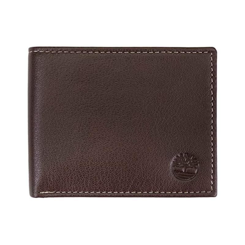 Portofel-din-piele-Timberland-Leather-Wallet-with-Attached-Flip-Pocket-Brown-Blix-pentru-barbati-maro
